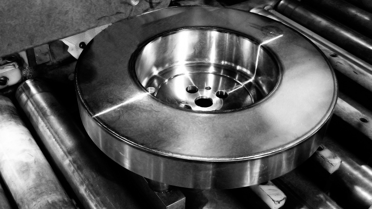 Vibratech TVD viscous damper on assembly line